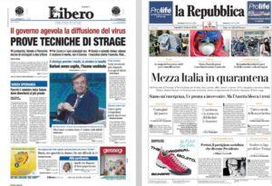 Possiamo rivedere i grafici sulla libertà di stampa in Itali