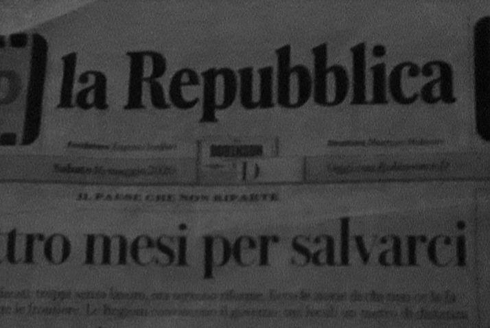 Prima pagina de La Repubblica di sabato 16 maggio