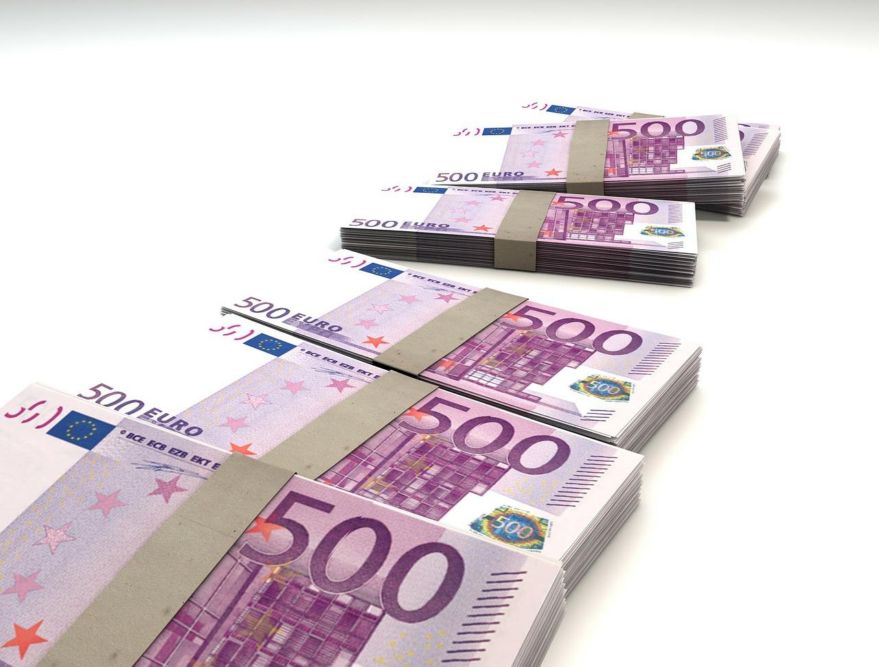 Blocchi di banconote da 500 euro