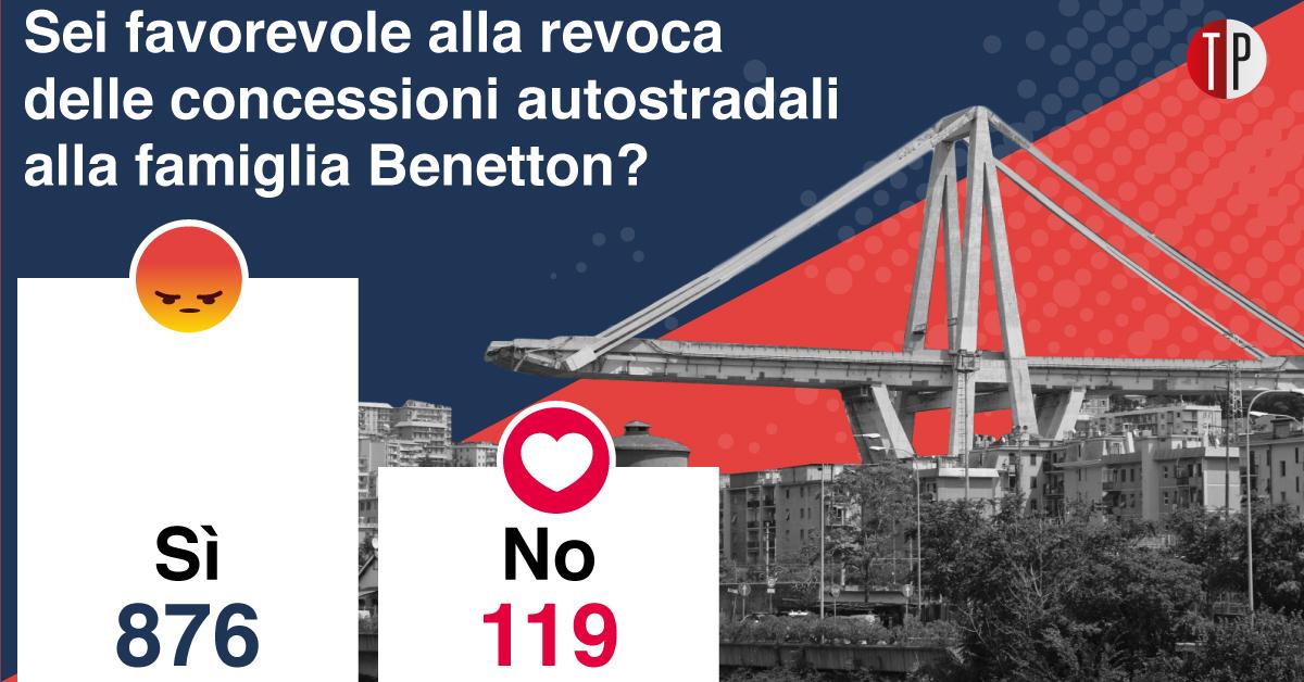 Social TP: domanda sulla revoca delle concesioni ad Atlantia (Benetton)