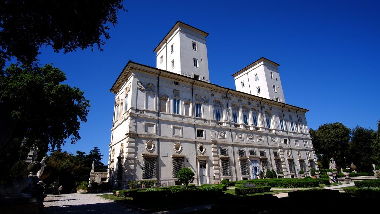 facciata di villa Borghese