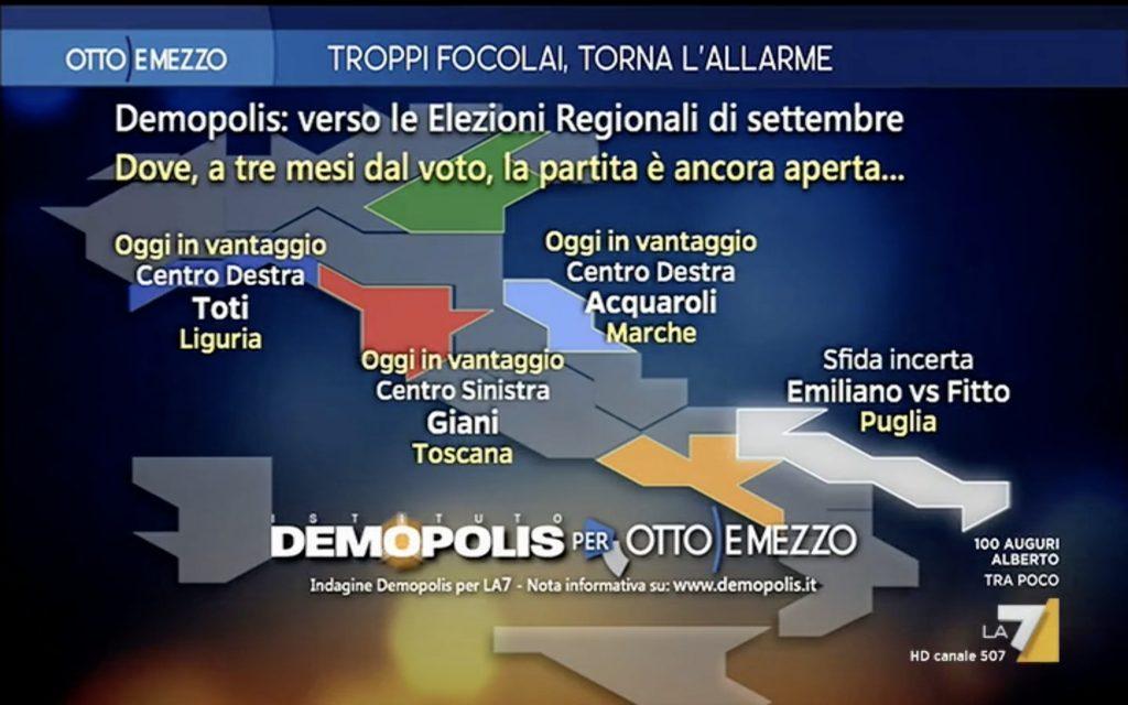 sondaggi elettorali demopolis, regionali 1