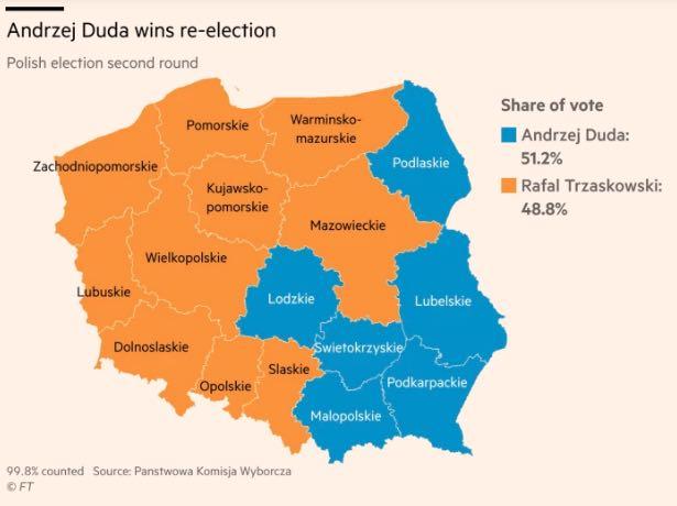 Mappa elezioni polonia