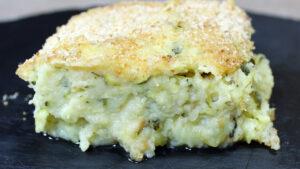 Gateau di patate e zucchine crude