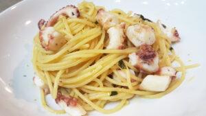 Spaghetti polpo e limone