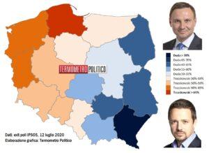 Polonia, secondo i late poll è rieletto presidente Duda (50,
