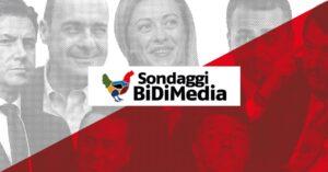 Sondaggi elettorali Bidimedia: giù Lega e M5S, crescono Pd e Fdi