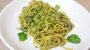 Spaghetti al pesto fresco, fatto in casa