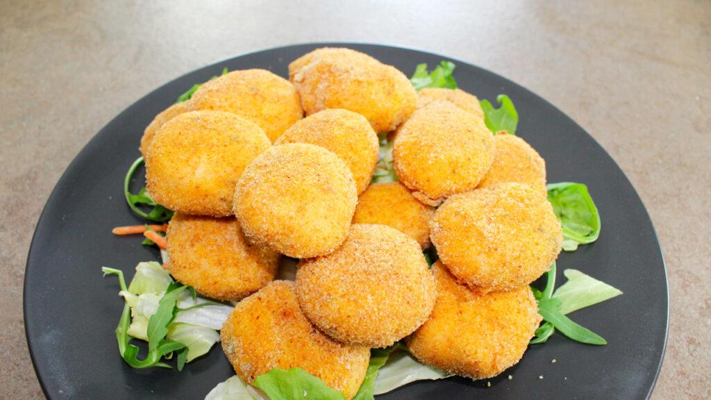 Crocchette di salmone e patate al forno