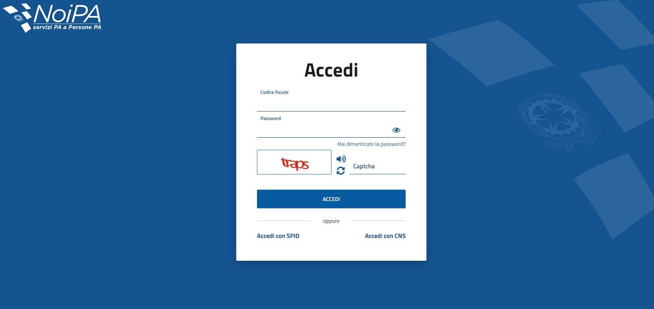 NoiPa accesso Spid e CIE