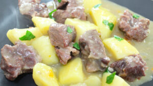 Spezzatino in bianco con patate