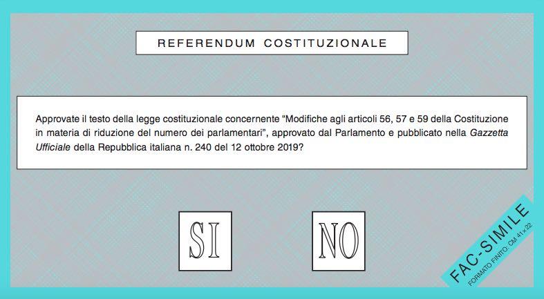 Referendum 2020: fac-simile scheda, come si vota e documenti utili