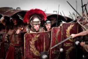 Da una parte 20,000 romani, dall'altra solo uno spartano
