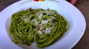 Spaghetti pesto fresco e pomodorini